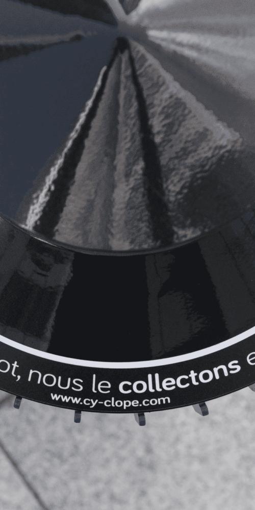 Cy-Clope collecte mégots