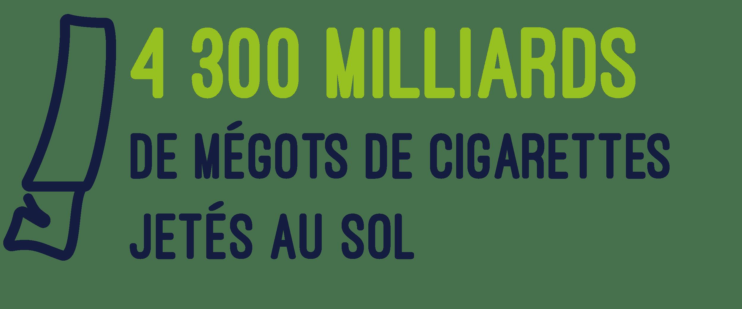 4 300 milliards de mégots jetés au sol