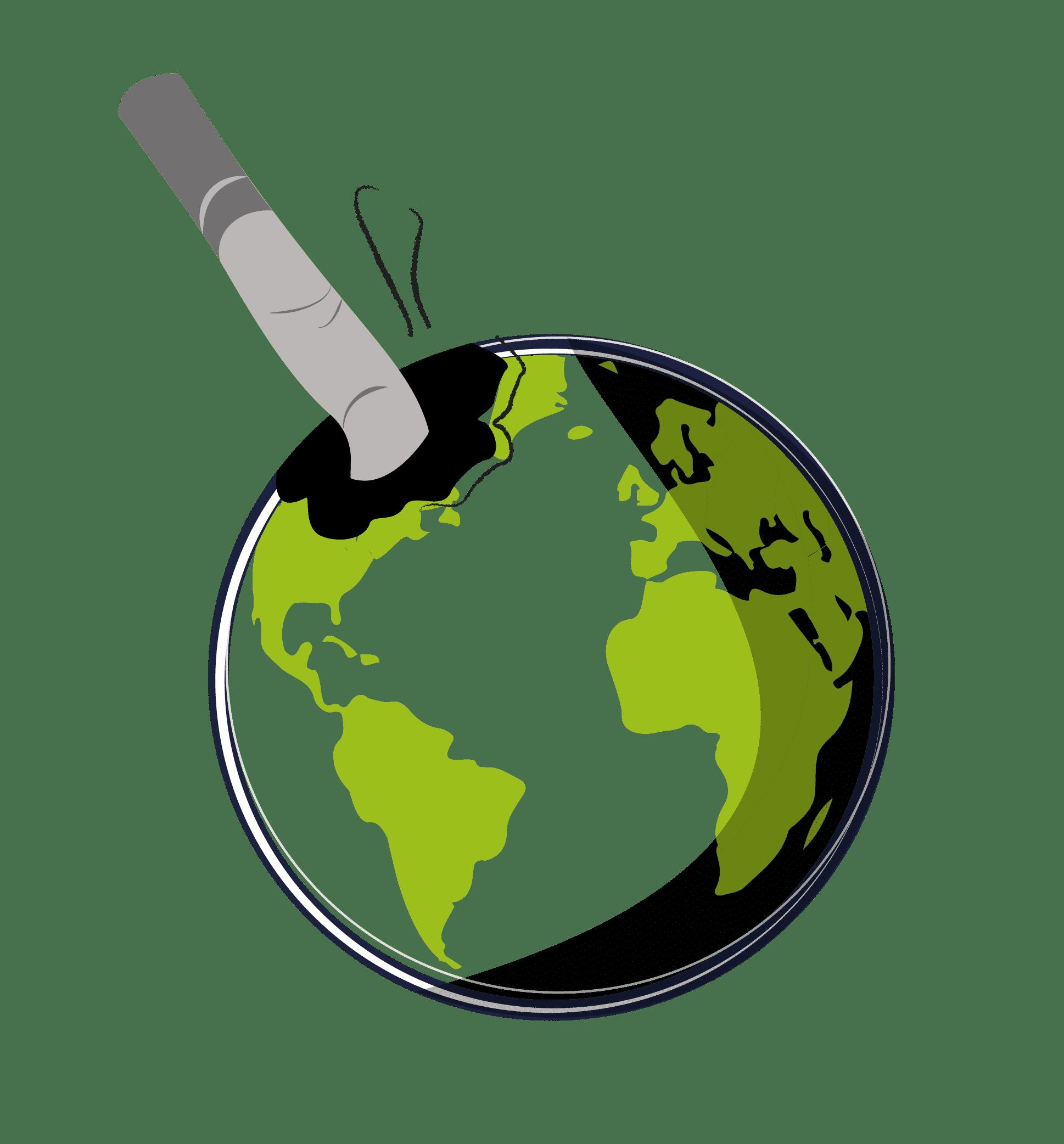 Filtre mégot polluant