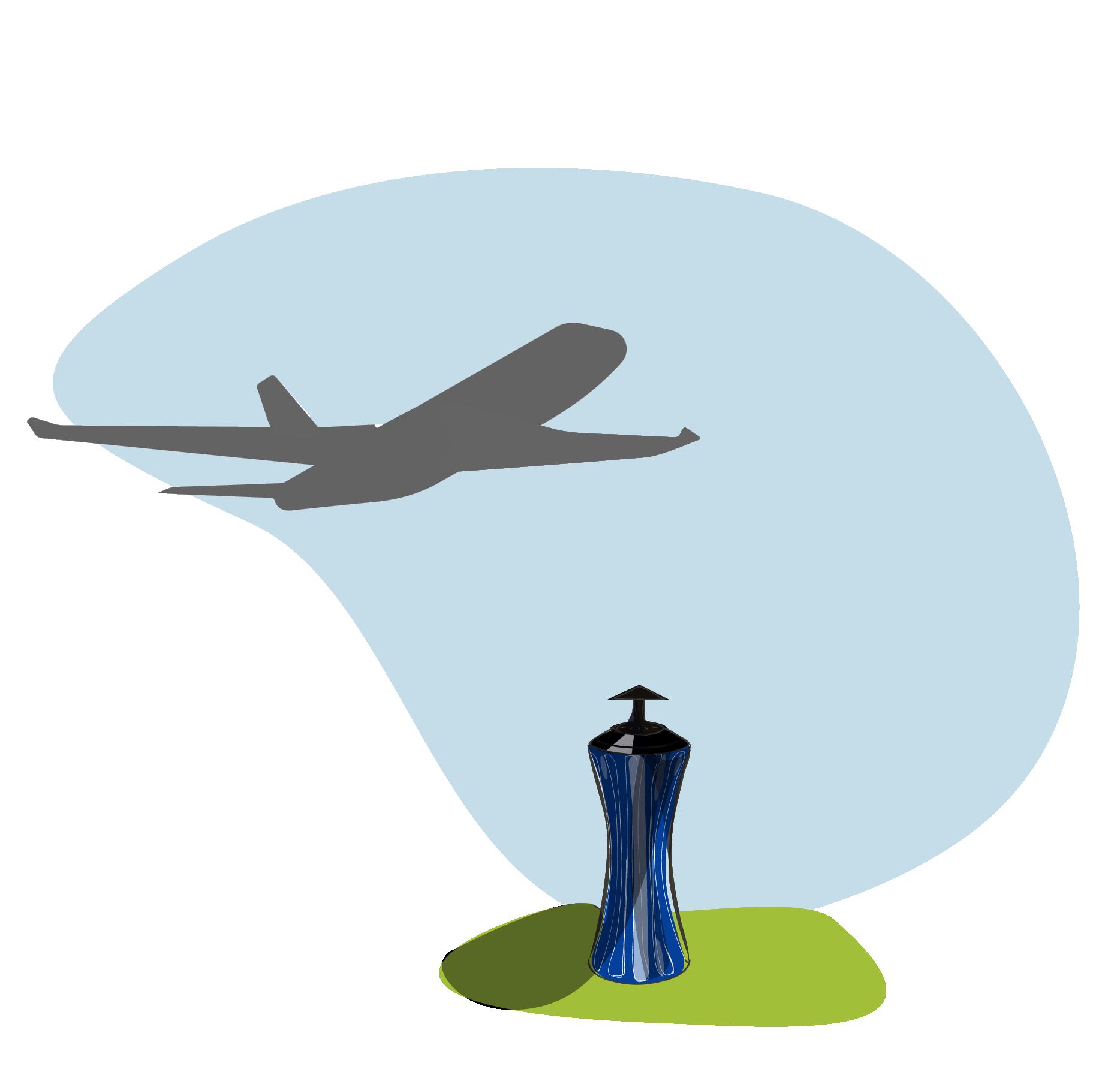 Cendrier aéroport